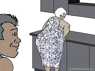 Cartoons Black Granny loving anal! Animation cartoon!