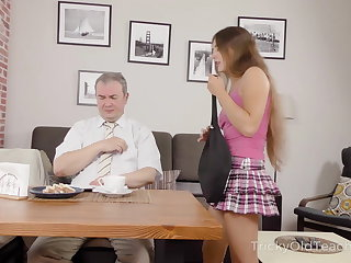 JOI Tricky Old Teacher - Teacher gives sexy student private sex
