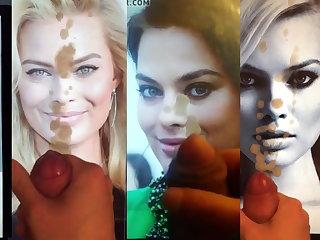 Skinny Margot Robbie Cum Tribute Montage