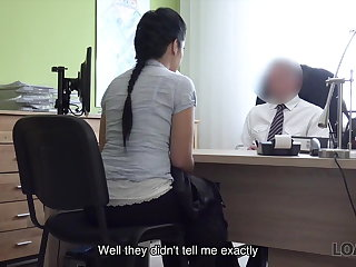 Interview LOAN4K. Big boobs and ass of Alex makes tricky agent very...