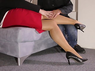 Foot Fetish Lady and Foot Slave