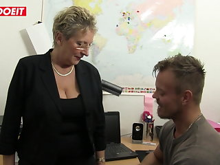 Saggy Tits LETSDOEIT - German Granny Gets Some Office Fucking