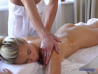 POV Massage Rooms Beautiful German blonde deepthroat and massage