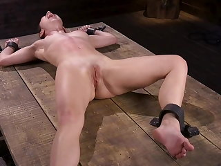 Whipping Bound in the Dungeon