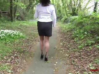 Flashing Sam Goes for a Stroll