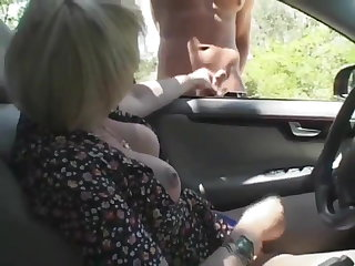 Foot Fetish car stroke and fuck