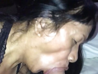Alien Sexy ladyboy sucking cock