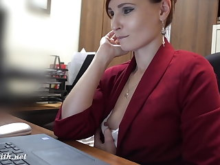 I've got a job. Jeny Smith gets naked at her new job Jeny Smith
