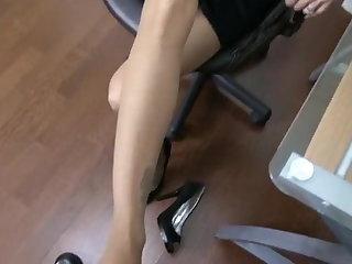 Foot Fetish Nylon footjob