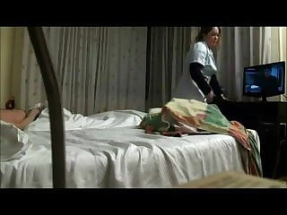 Softcore Real hidden camera sex with hotel maid