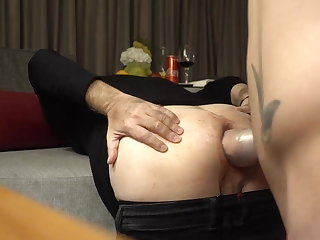 Mr BigHOLE Big Ass Gay Escort Fisted in Hotel Room Again