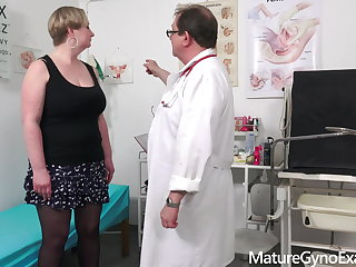 Medical Special pussy and breasts examination of busty mature woman