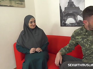 Agent Muslim milf pays for service with her body
