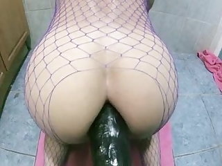 Lingerie TEEN HUGE DILDO ANALRIDING