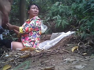 Vibrator Mature asian street prostitute fuckt in the woods
