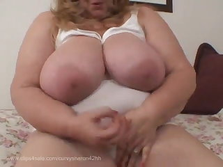 Fingering Curvy Sharon - Let Mommie Breastfeed You