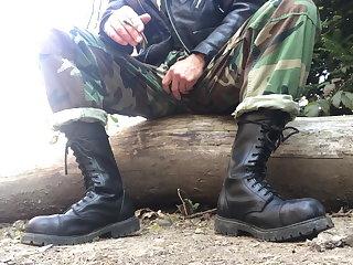 Military woodland army rangers wank