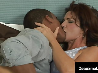 JOI Perverted Mom Deauxma Milks Younger Teen Dick!