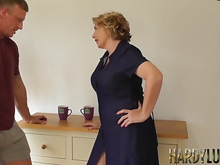 Hardcore threesome with stepmom and stepsis