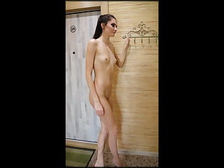 Gangbang 25 years old dancer Vika poses nude and swallows some cum