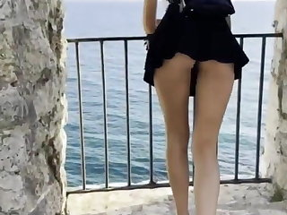 Public Flashing – Pussy and Buttplug