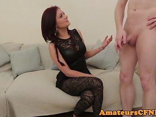 Redheads CFNM Brtitish amateur pulling cock on camera