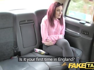 Iranian Fake Taxi American redheads tight asshole fucked by driver
