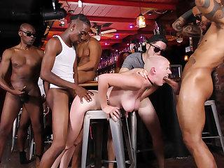Female Choice Riley Nixon Gangbanged In The Local Bar - Cuckold Sessions