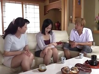 Gaping Japanese mom seduces daughter's boyfriend